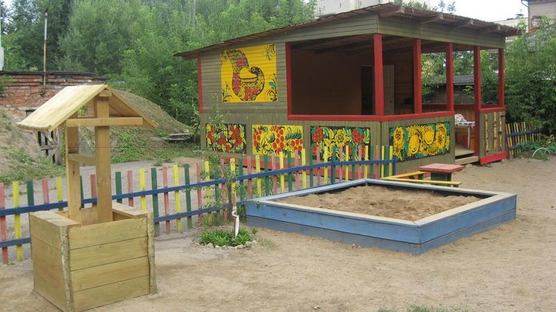Веранда на участке детского сада своими руками
