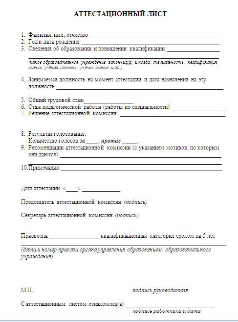 Публикации - Дошкольное образование АТТЕСТАЦИЯ ПЕДАГОГОВ - Управление образования